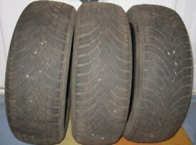 3 Winter tyres for Nissan Note.