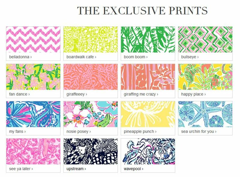 Brand-new Target Exclusive Prints Favorite Lilly Pulitzer Patterns Names  KZ71