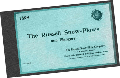 1898 Russell Snow Plows & Flangers CATALOG trains railroad Machinery Car Samples