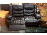 *FREE DELIVERY* As New Condition ~ Dark Brown 2 Seater Reclining Sofa ~ Bonded Leather Recliner