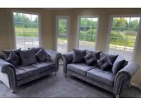 💖💖Beautiful New Chesterfield Leather Sofa Available 3+2 Seater 🚛🚛