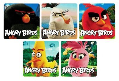 15 Angry Birds Movie Stickers Kid Party Goody Loot Bag Filler Favor Supply