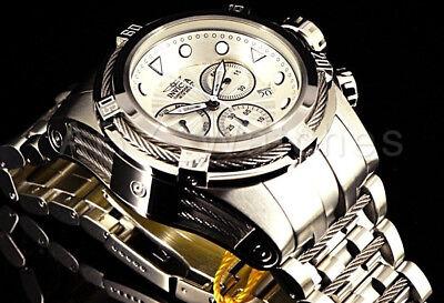 23909 Invicta Bolt Zeus 52mm Silver Dial Swiss Ronda ALL SILVER Bracelet Watch