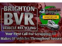 All Scrap Vehicles Collected Throughout Sussex [Cars, Vans & 4x4s] Cash Waiting
