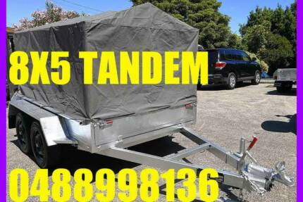 8X5 GALVANISED TANDEM TRAILER WITH CAGE AND TARP BOX TRAILER sa Elizabeth West Playford Area Preview