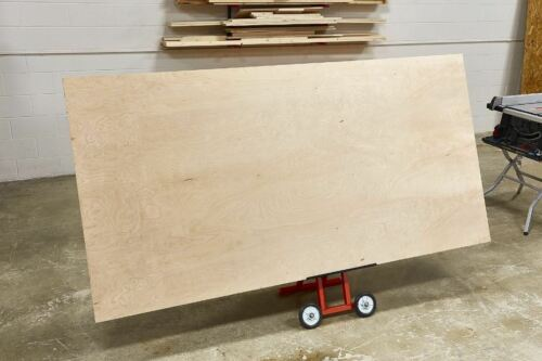 "Sheet Plywood Carrier Board Panel Cart Hand Truck Adjustable 40"" Table Saw Stand"