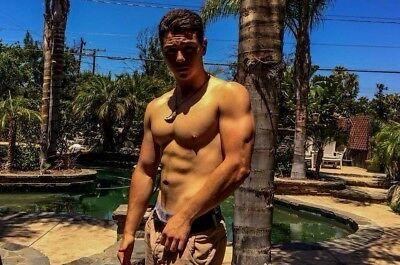 Shirtless Male Muscular Handsome Frat Jock Hunk Great Body PHOTO 4X6 F384