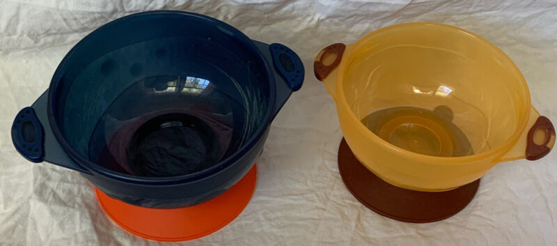 Toddler Baby Stay Put Suction Bowl, 2 Pack New