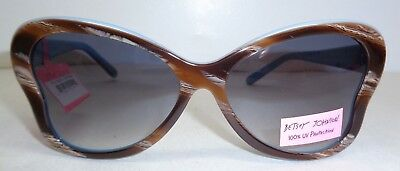 Betsey Johnson BJ159112 Brown Blue 100% UV Fashion Sunglasses New Womens Eyewear