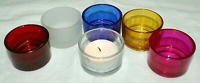1-Tealight or Votive 6-Unique Different Colors-Candle Holder~U-ChooseWOW! (Votive Holder)