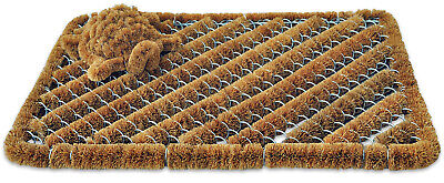 Coco Fiber Doormat with Mini Boot Scraper, 18 inch by 30 inch