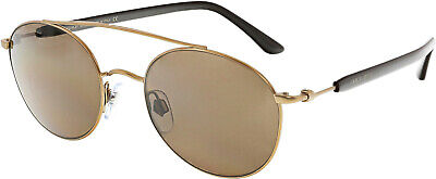 Giorgio Armani Men's AR6038-300473-50 Gold Oval Sunglasses Giorgio Armani Mens Metal Sunglasses