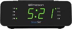 Emerson SmartSet Digital Alarm Clock Radio w/AM/FM,0.9 LED Large Display,Snooz