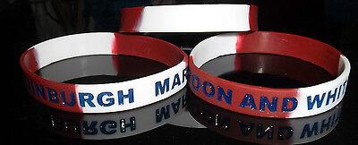 HEARTS FC WRISTBAND EDINBURGH,MAROON AND WHITE