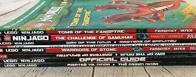 Lot 8 PB LEGO Ninjago Scholastic Graphic Novels Readers Masters of Spinjitzu