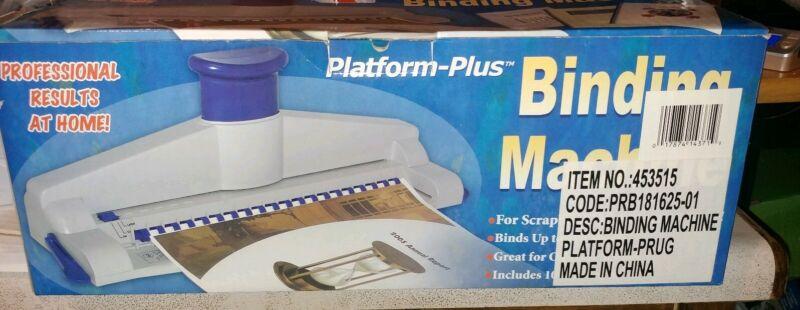 Platform-Plus 100 Page Binding Machine