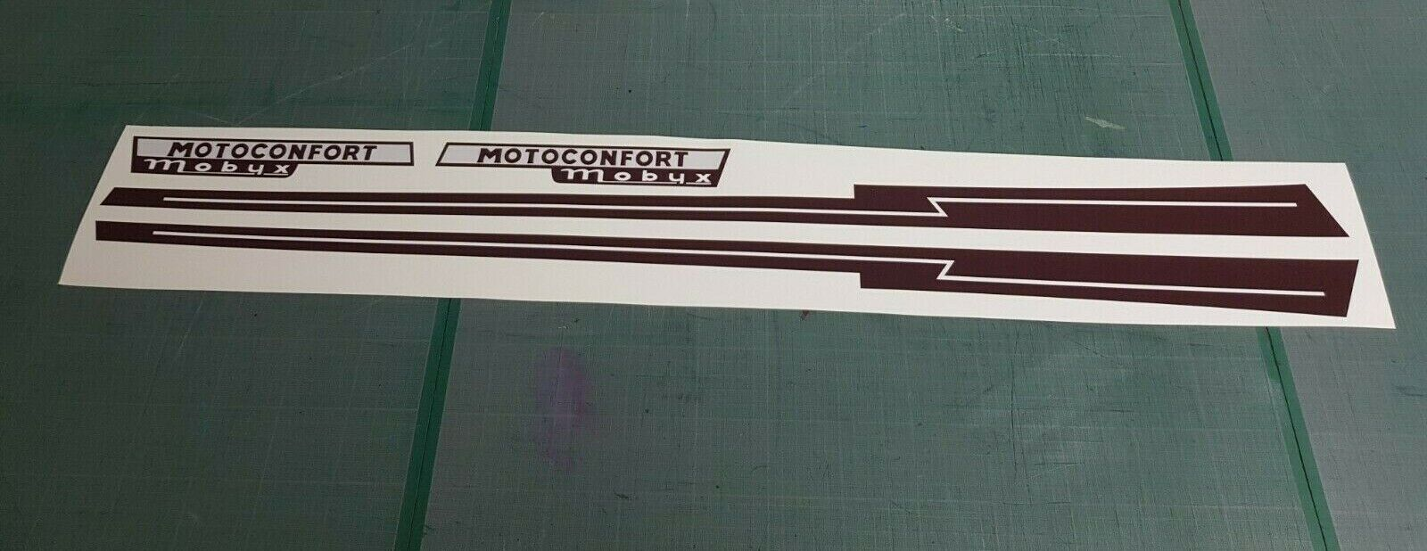Kit Autocollants stickers mobylette Motoconfort Mobyx pour carter