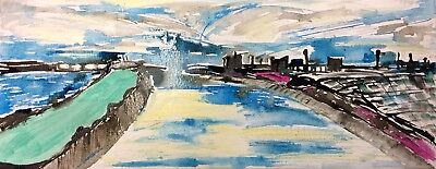 BRISTOL RIVER AVON BY NIGEL WATERS ORIGINAL ACRYLIC CANVAS PAINTING SIGNED *