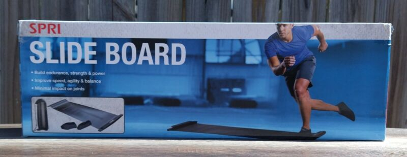 Slide Board with End Stops, Sliding Booties,Mesh Carrying Bag and Exercise Guide