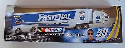 2013 Spin Master Nascar Carl Edwards Race Car Hauler Fastenal  99 Subway Aflac