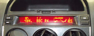 Radio Display - Mazda 6 05 - 07 Facelift Verbesserung