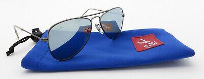 Ray Ban Junior Sunglasses 9506S Gunmetal Aviator Frame Grey Mirror Lenses