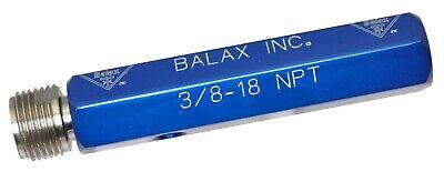 38-18 Npt L-1  1 Step Thread Pipe Plug Gage  Balax Inc.