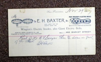 E. H. Baxter for Wingren's / WINGREN'S ELECTRIC INSOLES Also GIANT ELECTRIC
