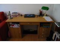 Spacious Beech Desk