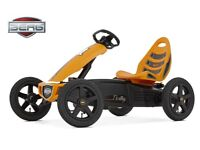 BERG RALLY ORANGE PEDAL GO KART 4-12YRS NEW