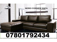 SOFA BRAND NEW NERO SOFA ITALIAN LEATHER AVAILABLE CORNER 8958