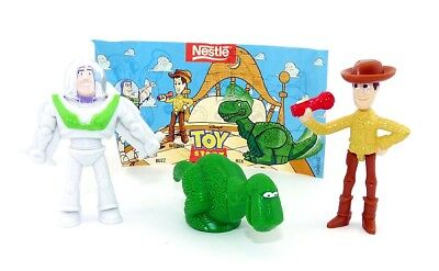 Toy Story Figurenset von Nestle. Coyboy Woody, Rex und Buzz Lig.