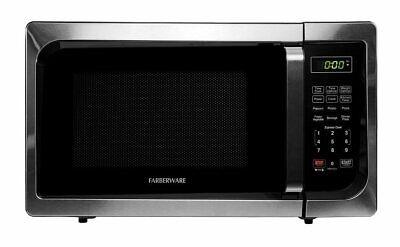 Farberware Microwave Oven Classic 0.9 Cubic Foot 900 Watt Stainless Steel