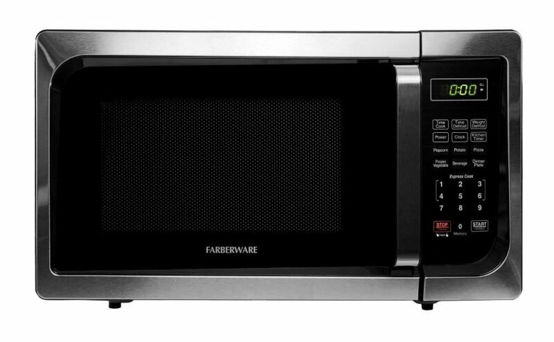 Farberware Classic 0.9 Cu. Ft. Compact Microwave Stainless steel/black 4243