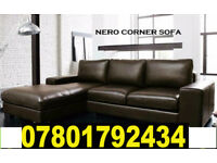 SOFA BRAND NEW NERO SOFA ITALIAN LEATHER AVAILABLE CORNER FAST DELIVERY 2