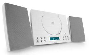CD Player Denver MC-5010 White HiFi System Mini Micro Compact Stereo Wall Mount