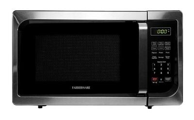 Farberware Microwave Oven Classic 0.9 Cubic Foot 900 Watt Stainless Steel