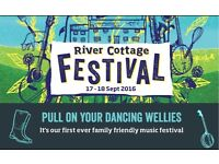 River Cottage Music Festival Tickets x 3