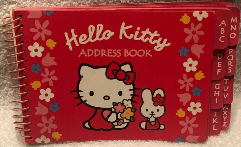 1976, 2000 Vintage SANRIO HELLO KITTY Red Address Book Made In Korea