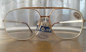 STYLISH-LARGE-LENS-GOLD-METAL-MENS-READING-GLASSES-IN-ALL-9-STRENGTHS-M52