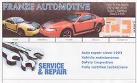 FRANZE AUTOMOTIVE 126-3 CLARKE RD,LONDON,519-455-3307