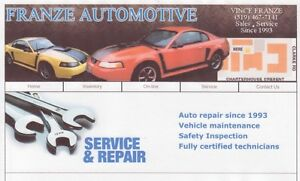 FRANZE AUTOMOTIVE 126-3 CLARKE RD,LONDON,519-455-3307
