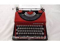 Working Rare Invicta Typewriter - New Ribbon, Case - London Typewriters