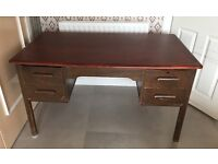 Solid wood oak large office desk with two sets of drawers for sale
