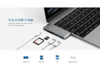 USB-C Hub with Power Delivery 2 super-speed USB 3.0 ports (NEW)