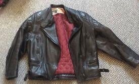 Black Leather Biker style Jacket