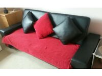 FREE FREE CLICK CLACK FAUX LEATHER SOFA BED