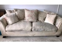 Lovely cream and beige fabric 3 seat sofa £60 ono