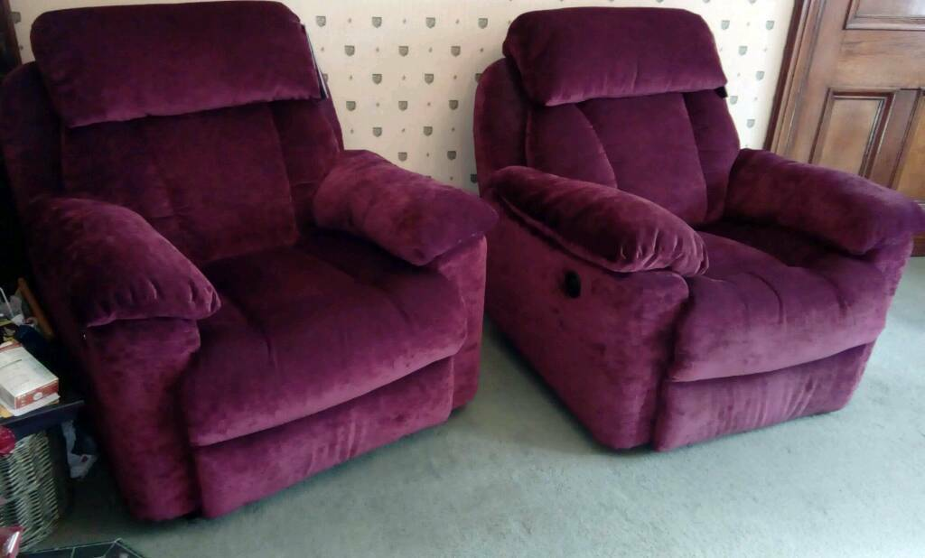 Reclining Chairs - One Electric, One Manual - £150 ea - MUST BE SEEN