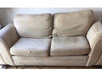 3 Seater Sofa Bed in Cream